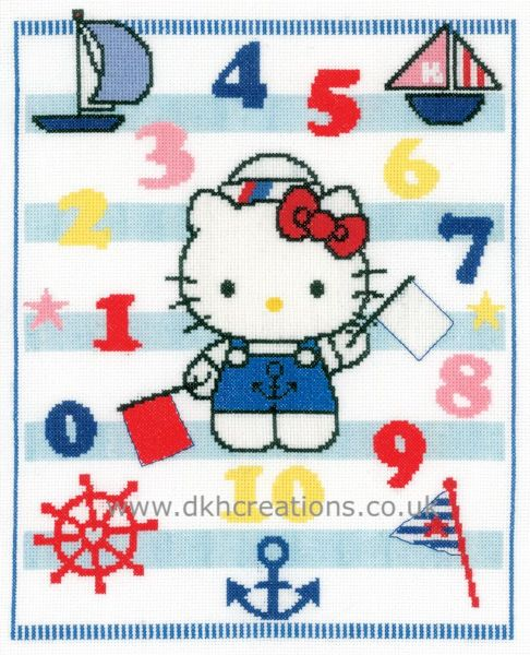 Hello Kitty  Learning Numbers Cross Stitch Kit